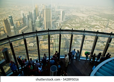 DUBAI, UAE - NOVEMBER 22, 2016: At The Top Burj Khalifa, Dubai, United Arab Emirates.