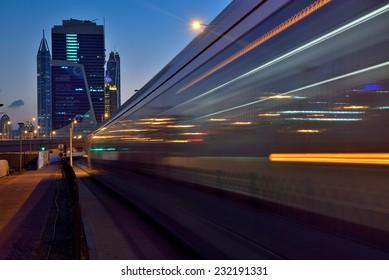 DUBAI, UAE - NOVEMBER 22: Dubai opened it's first Tram service from Nov-11-2014 from Dubai Marina to Al Sufouh area photo taken on November 22, 2014, Dubai, UAE.