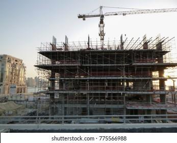 DUBAI, UAE - NOVEMBER 23 2017: Dubai under construction