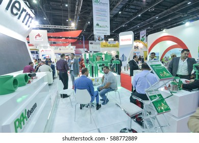 DUBAI, UAE - November 24, 2016: The Big5 exhibition event in Dubai: The Big 5 is the largest building and construction exhibition and event  in the Middle East, Dubai