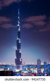 DUBAI, UAE. - NOVEMBER 29 : Burj Dubai - tallest building in the world, at 828m. on November 29, 2011 in Dubai, UAE.