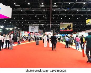 DUBAI, UAE - October 2, 2018:  GITEX Shopper 2018. The biggest consumer electronics show in the MENA region held at Dubai World Trade Center.