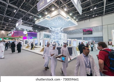 Dubai, UAE - OCTOBER, 8-14, 2017: 37th Gitex Technology Week in Dubai World Trade Center: New Technology exhibition in Gulf and MENA Region at DWTC, DUBAI