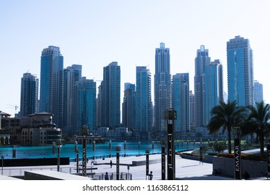 Dubai UAE on March 05, 2013: the city has modern life and high rise buildings