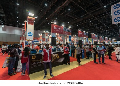 DUBAI, UAE - September 23, 2017: 27th Gitex Shopper Autumn 2017. The biggest consumer electronics show in the MENA region in Dubai World Trade Center.