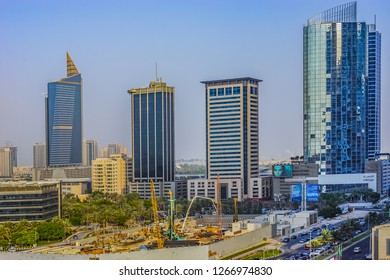 DUBAI, UAE - SEPTEMBER 9, 2015: View of King Salman bin Abdulaziz al Saud Street (Jumeirah Road or Jumeirah Beach Road, formerly Al Sufouh Road) in Dubai. Road runs parallel Persian Gulf.