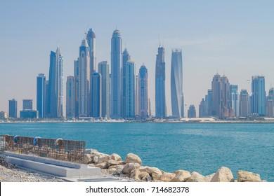 Dubai, UAE, Urban view,  sea. 2015