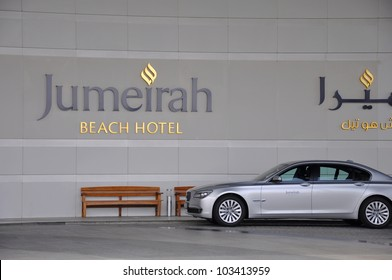 DUBAI, UAE-MARCH 10:Jumeirah Beach Hotel on March 10, 2011 in Dubai.For the 2nd year in a row,the hotel was voted the Best Hotel in the Middle East at the 2011Business Traveller Awards held in Germany