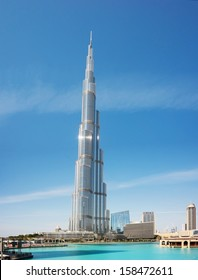 DUBAI, UAE-NOVEMBER 14: Burj Khalifa - the world's tallest tower at Downtown Burj Dubai on November 14, 2012 in Dubai, UAE