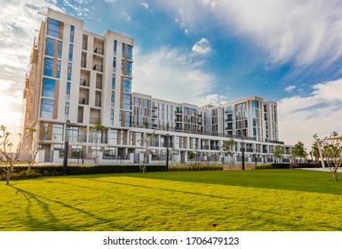 Dubai, United Arab Emirates 02/20/2020 : Mudon Views building in Mudon community in Dubai Land Area, Dubai