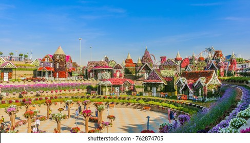 Dubai, United Arab Emirates - 03/10/2017 - Miracle Garden Dubai, Flower Garden in Dubai