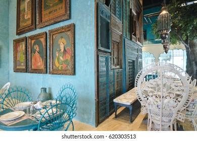 Dubai, United Arab Emirates, 04/29/2016, House of Curry indian restaurant interiors, Dubai, JBR, The Walk