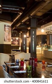 Dubai, United Arab Emirates, 06/06/2015, Urbano Italian Restaurant, Dubai Mall, souk al bahar, Downtown Dubai.