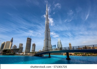 Dubai, United Arab Emirates -12 January 2017: Burj Khalifa -  world's tallest tower