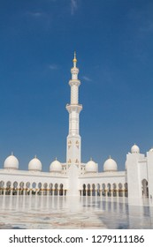 DUBAI, UNITED ARAB EMIRATES - 24 February, 2017:  Sheikh Zayed Grand Mosque, Abu Dhabi