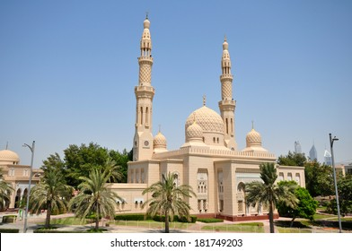 DUBAI, UNITED ARAB EMIRATES - 27 JUNE, 2012: Jumeirah Mosque. It is the only mosque in Dubai open to public.