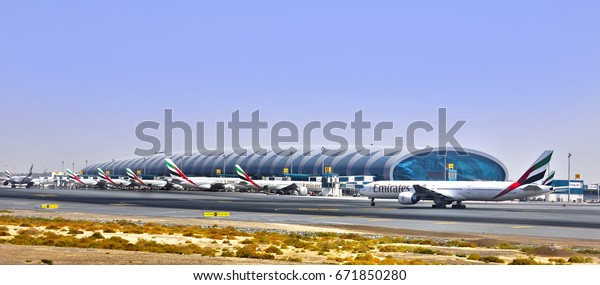 Dubai. United Arab Emirates. 6/11/2013. Terminal 3 of the Dubai International Airport was opened officially in October 2008 and was specially designated for Emirates Airlines.