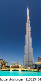 Dubai, United Arab Emirates - April 15, 2018: The highest building in the world, Burj Khalifa