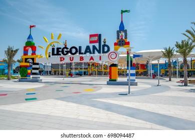 Dubai, United Arab Emirates August 10, 2017-Dubai Legoland at Dubai Parks and Resorts,Dubai, United Arab Emirates.