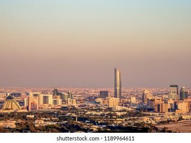 DUBAI, UNITED ARAB EMIRATES - JANUARY 11, 2018: Elevated view towards Healthcare and Wafi Cities.