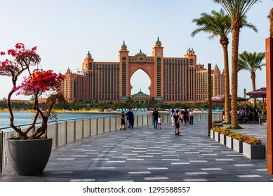 Dubai, United Arab Emirates - January 25, 2019: The Pointe waterfront dining and entertainment destination newly opened at the Palm Jumeirah