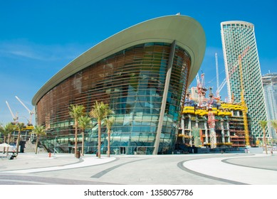 Dubai, United Arab Emirates - January 9,2019: Opera house downtown