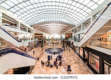 Dubai, United Arab Emirates – June 11, 2018, Dubai Festival City Mall located at Festival City district, during the Ramadan there is lot of decoration and offers.