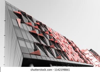 Dubai, United Arab Emirates - Mar., 2018: Dubai Design District. Bold Modern Architecture