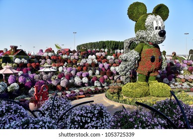 Dubai, United Arab Emirates, March 22, 2018, Dubai Miracle Garden located in the district of Dubailand is one of a kind in the region and the world for such a unique display and extravagant