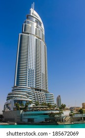 DUBAI, UNITED ARAB EMIRATES - March 31, 2013 The Address Hotel in downtown Dubai