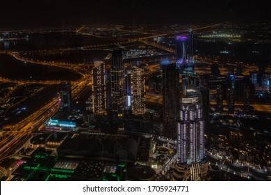 DUBAI, UNITED ARAB EMIRATES - MAY 2019: Burj Khalifa skyscraper in Dubai, United Arab Emirates. It is the tallest artificial structure in the world, standing at 829.8 m 2,722 ft