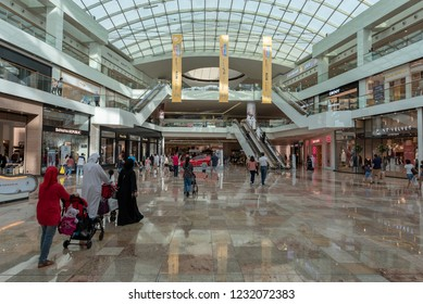 Dubai, United Arab Emirates – November 16, 2018, Dubai Festival City Mall located at Festival City district, during the Ramadan there is lot of decoration and offers.