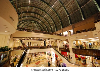 DUBAI, UNITED ARAB EMIRATES - NOVEMBER 30: Mall of the Emirates November 30, 2011 in Dubai, UAE. This is the second largest mall in Dubai containing the biggest indoor ski slope in the world.