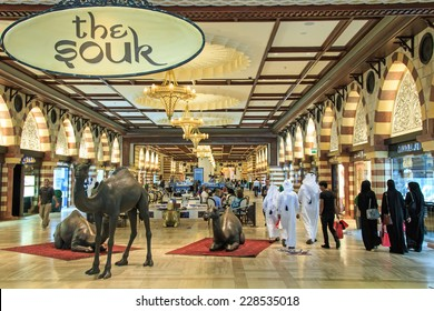 Dubai, United Arab Emirates - October 11,2014: The Gold Souq in Dubai Mall, world's largest shopping mall based on total area