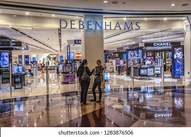 DUBAI, UNITED ARAB EMIRATES - SEPTEMBER 7, 2015: Interior of Mall of the Emirates. Mall of the Emirates is the second largest mall in Dubai containing the biggest indoor ski slope in the world.