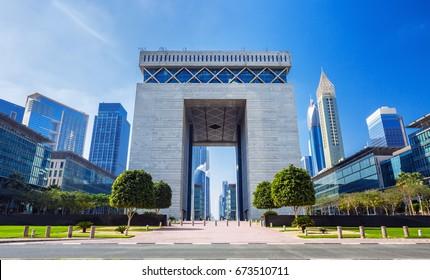DUBAI ,UNITED ARAB EMIRATES-FEBRUARY 27, 2017: Dubai Financial center district,UAE
