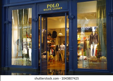 Dubai, United Emirates Arab, picture dated 9th of March 2018. Polo Ralph Lauren shop in the beautiful Mall of Emirates.