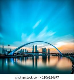 Dubai Water Canal Morning