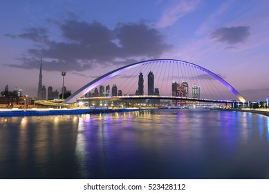 Dubai water canal in Morning Dusk