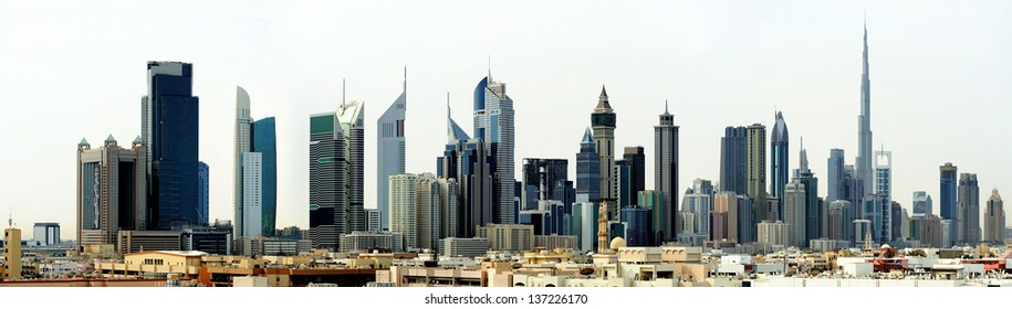 Dubai. World Trade center and Burj Khalifa
