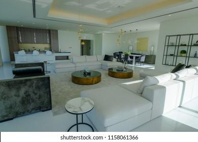 Dubai,Dubai/United Arab Emirates - March 2017: Luxurious Penthouse on the Palm