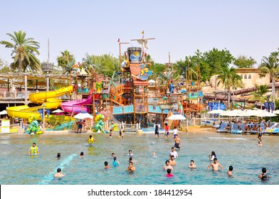 DUBAI-JUNE 6: Wild Wadi Water Park on June 6,2009 in Dubai. Wild Wadi Water Park is an outdoor water park in Dubai, United Arab Emirates.