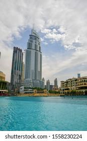 Dubai,UAE - 1 February 2019 : The skyscrapers in Dubai city .