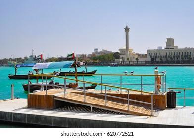 DUBAI,UAE - MARCH 12,2012: Port with ships in Deira