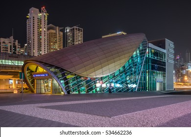 Dubai,UAE on 26th Nov 2016: RTA is a sole public transportation service provider which includes the Metro, Tram, Abras, Bus, Water Bus and water taxi across the city of Dubai  in the UAE