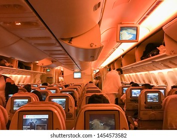 Dubai,UAE-18 July 2019.Emirates airlines will increase their flight destinations in next few years for business expansion plan.This is to cater the demand from passengers that are expectedly rise.