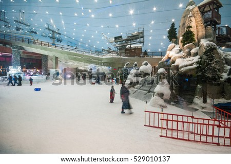 DUBAIUAE JAN 22 Interior Of The Ski Dubai An Indoor Slope