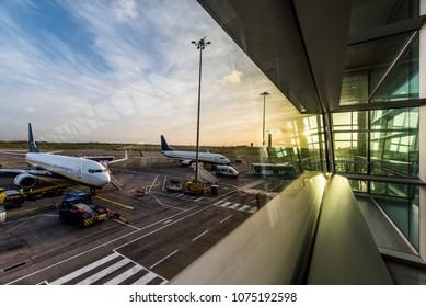 Dublin, airport, modern, business