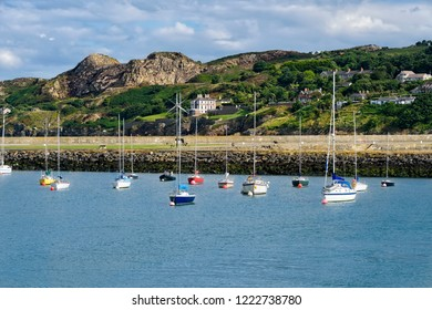 Dublin Bay and the seaport village of Howth, located on the outer suburb from Dublin.