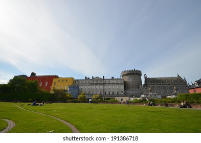 Dublin Castle , seen from the park to the south , outside the walls